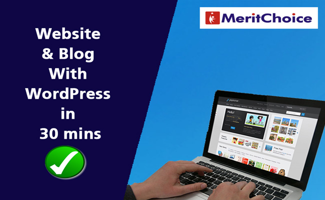 website and blog with wordpress